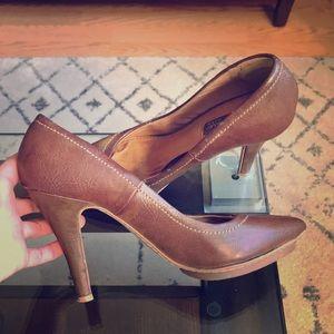 Zara brown leather pump size 36/6